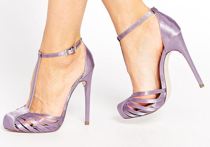 ASOS 'Patience' purple high heels