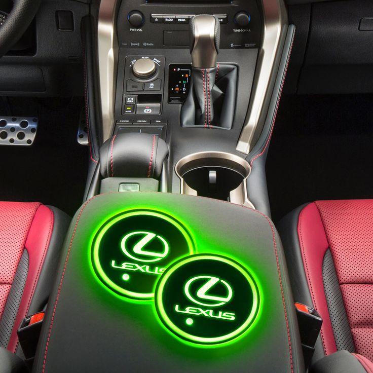 Lexus LED Car Logo Coaster 2pcs in 2020 Logo coasters