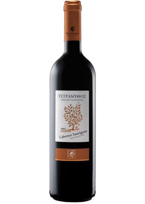 Tetramythos Wines  Cabernet Sauvignon (2010)  Dry Red Wine  Grape Variety: 100% Cabernet Sauvignon. The wine is certified organic - Our price, DKK 142.00 (incl. moms)