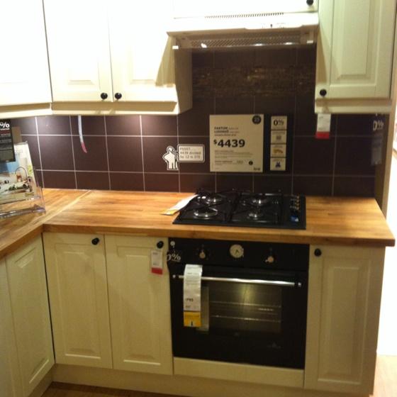 Ikea Varde Kitchen Island Bench ~ Faktum Lidingo with black knobs  Eat in it  Pinterest