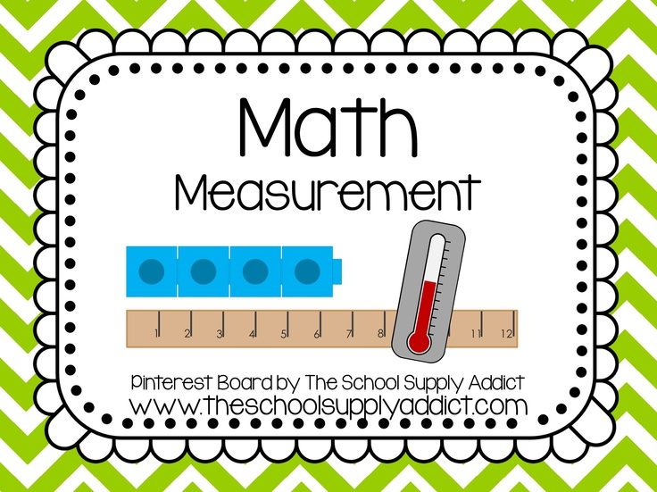 Measurement Pin Board by The School Supply Addict