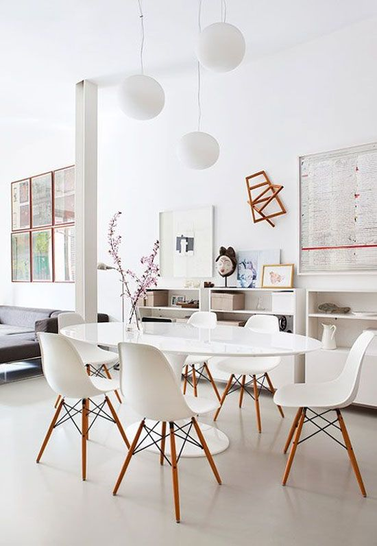 eames dining chair history. white eames chairs and a tulip table dining chair history l