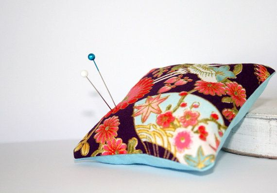 Small 3 x 3  Handmade Sewing Pin Cushion by WhiteLineProducts, $9.00