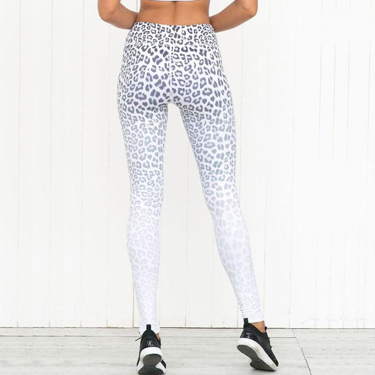 Womens Athleisure Leopard Print Yoga Pants. Add some fierceness to your workout with these printed leggings.
