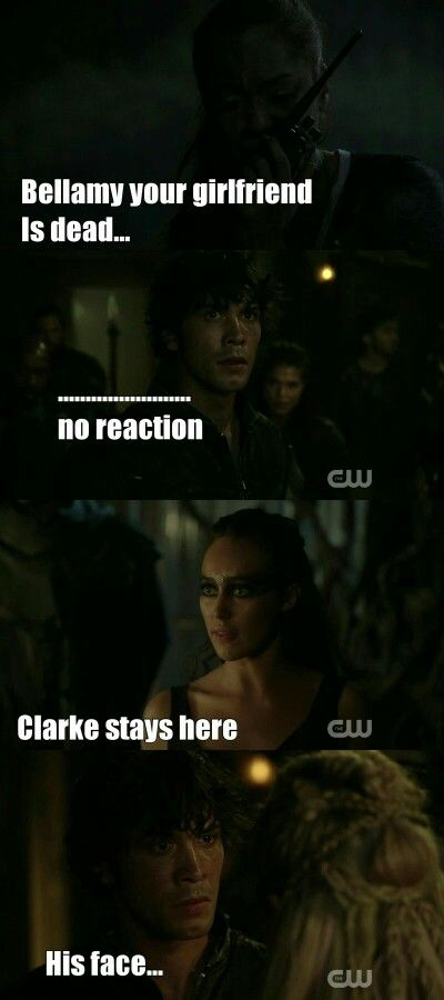 """#The100 3x03 """"Ye Who Enter Here"""", wouldn't describe brutal massacre as 'no reaction' but there we are"""