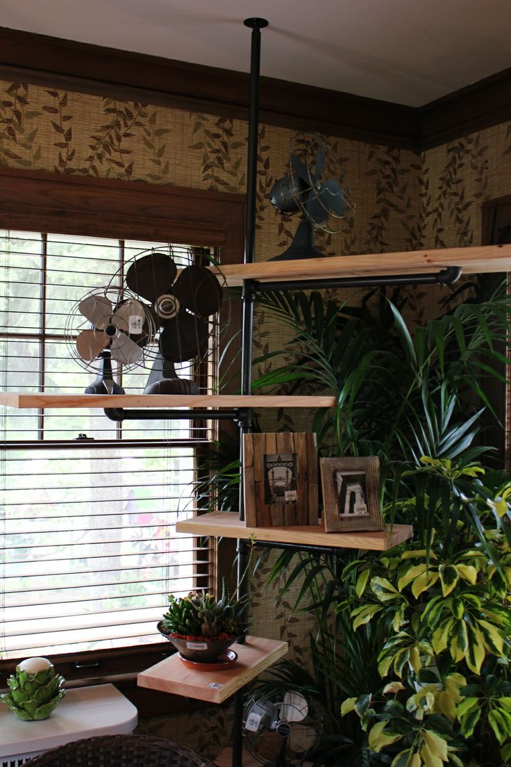 Itsy Bits and Pieces: More From The Bachman's Summer 2011 Ideas House...industrial pipe shelving unit