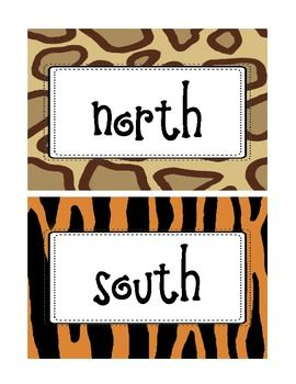 Jungle Themed Classroom Directional Labels