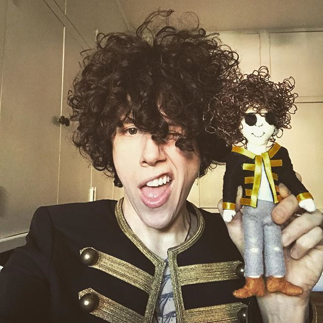 Oh shit!! Thank you Athena for my mini-me and thank you all for your amazing gifts on tour last month!! Love you guys and will see you soon!! ❤️ #bestfansever #thankyou