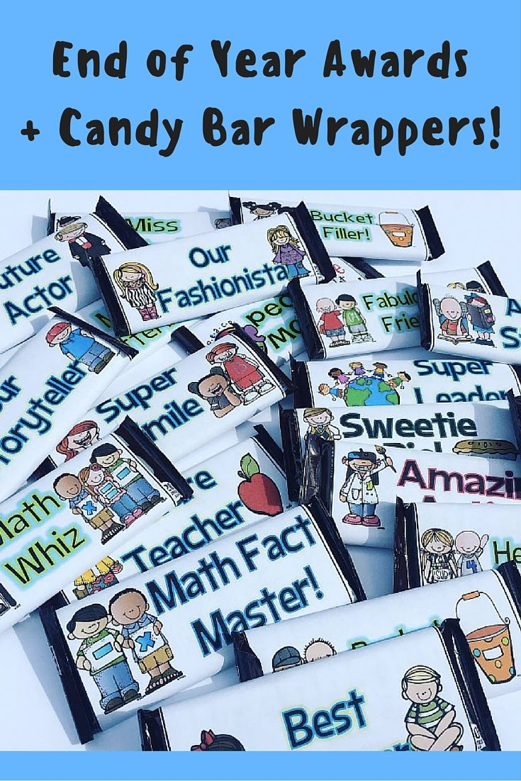 How sweet are these end-of-year award candy bar wrappers!? Over 100 full-page awards are also included... and it's on sale!