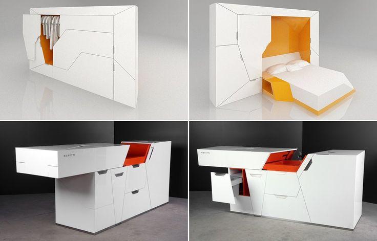 Muebles multifuncionales: Dormitorio y cocina