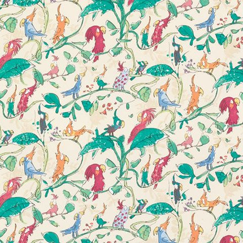 Quentin Blake wallpaper £35.00 a roll. This might just turn into a must, Roald Dahl is my fave.