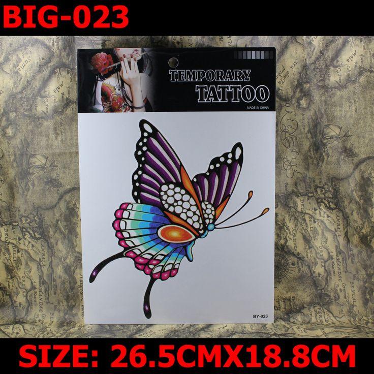 Красочный-бабочка большой размер 265 мм x 188 мм новое боди-арт тату временные татуировки экзотические сексуальные татуировки наклейки