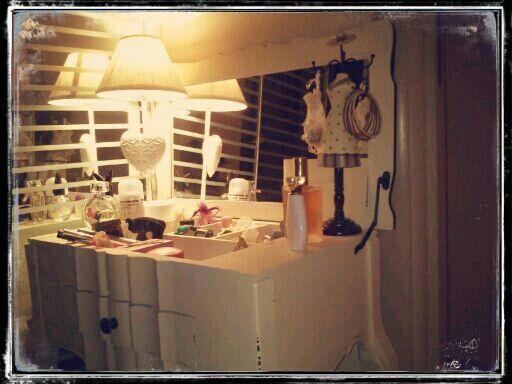 My shabby chic dressing table - La mia petineuse shabby chic