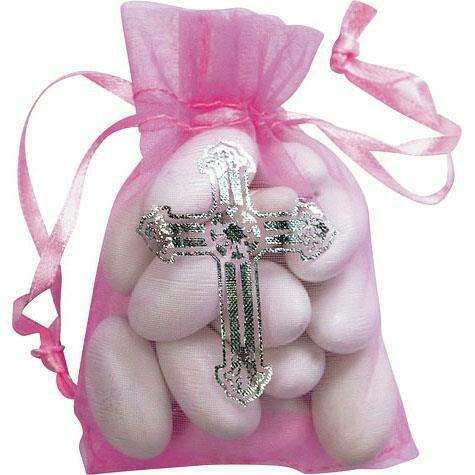 Bolsita de dulces para bautizo ni a ideas pinterest for Mesa de dulces para bautizo de nina
