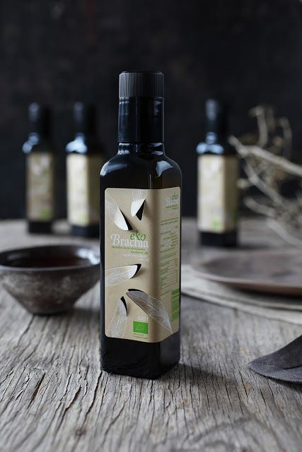 Unique olive oil #labels with cut outs | ekoBrachia on Packaging of the World - Creative Package Design Gallery