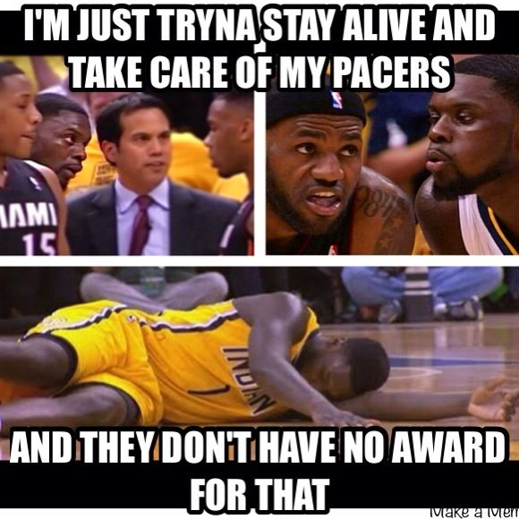 Lance Stephenson Indiana Pacers vs Miami Heat Eastern Conference Finals 2014 NBA Playoffs #Drake #trophies #rapmeme #hiphopmeme #basketball #Lebron #KingJames #youngmoney #bluecollargoldswagger #paulgeorge #royhibbert #miamiheat #indianapacers #ymcmb #funny