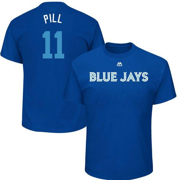 "Kevin Pillar ""Pill"" Toronto Blue Jays Majestic 2017 Players Weekend Name & Number T-Shirt - Royal - $29.99"