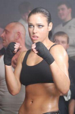 """Female MMA fighter and Kickboxer Lena """"Hunter"""" Ovchynnikova www.bodybydoug.ca www.bodybydoug.net @bodybydougca"""