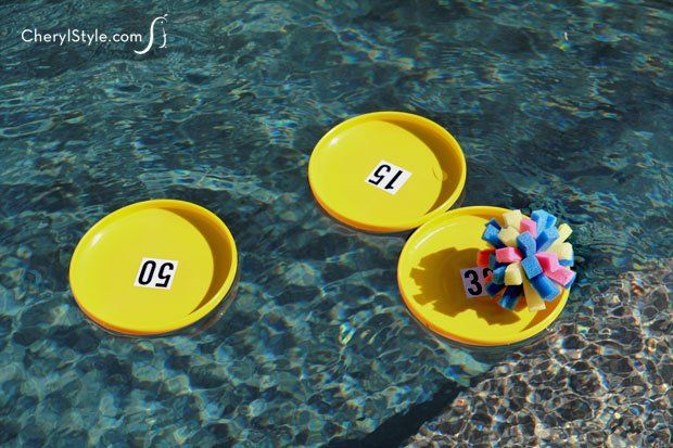 Keep the kids busy with a quick and easy DIY sponge ball pool game - can use a small plastic kiddie pool