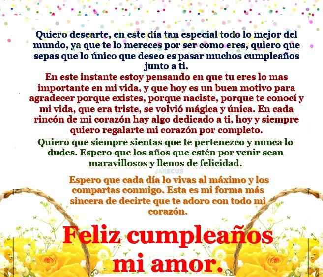 Quiero desearte, en este día tan especial todo lo mejor del mundo