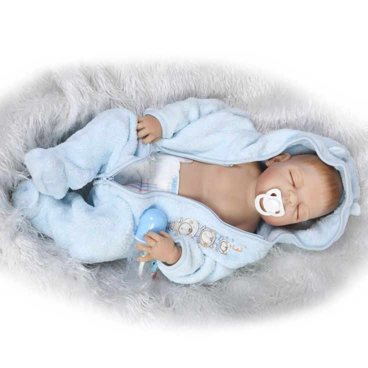 ==> [Free Shipping] Buy Best NPK22 inch 57 cm silicone reborn dolls reborn doll Lifelike Beautiful toys babies hand-painted hair day blue boy nightwear Online with LOWEST Price | 32737028899
