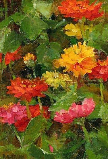 Simple Flower Garden Paintings 350 best zinnia images on pinterest | zinnias, flower gardening