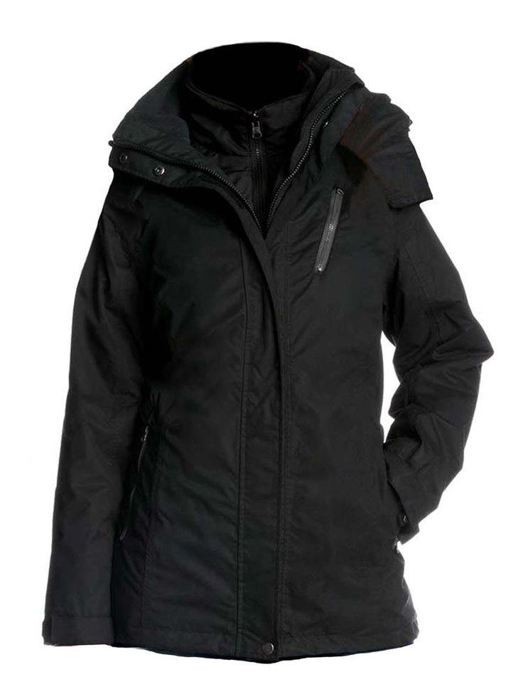 His Damen Funktionsjacke Regenjacke 3 in 1 Jacke schwarz Neu Gr.40