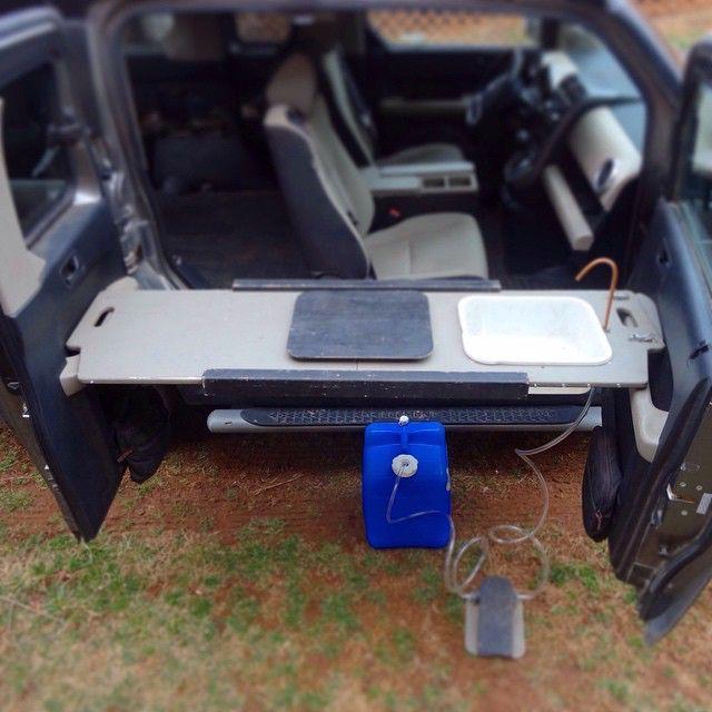 Honda Element camp sink