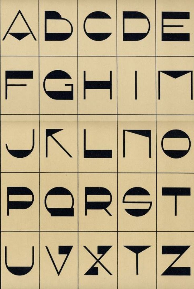 Art deco book of lettering art