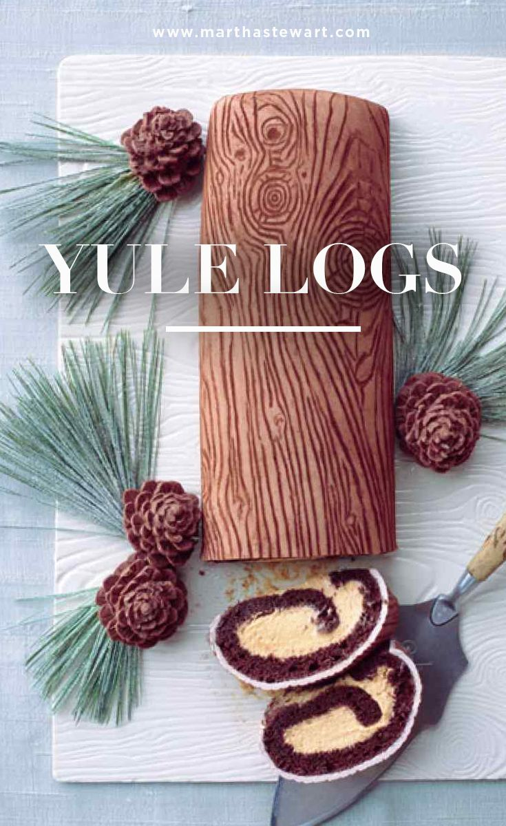 Take Christmas to the next level with this highly detailed Yule log cake, complete with wood-grain pattern and chocolate pinecones.