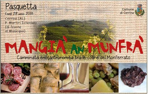 Mangia' an Munfra' per #Pasquetta a #Cerrina #Monferrato!
