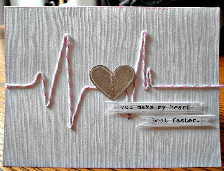 This is just clever! You make my heart beat faster. #card #valentines