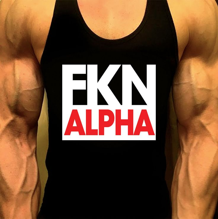 FKN ALPHA Shirt Mens Workout Tank Top T-Shirt Stringer Muscle Racerback Golds Gym Bodybuilding Tops by MyFitnessApparel on Etsy