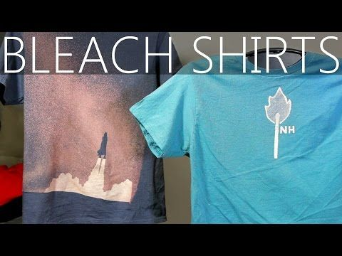 How To Design Custom Shirts With Bleach - YouTube