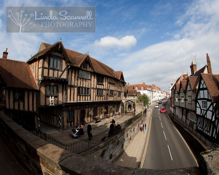 Lord Leycester Hospital - a fabulous medieval building in the centre of Warwick, licensed for civil ceremonies.  Beautiful gardens for your bride and groom portraits afterwards.  Great courtyard that makes the perfect backdrop for group shots. #warwick #warwickshire #weddingvenue