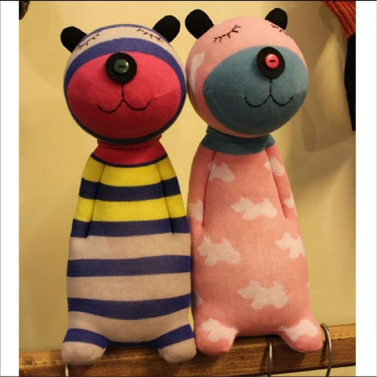 socks toys - great way to repurpose those cute socks that have lost their mates