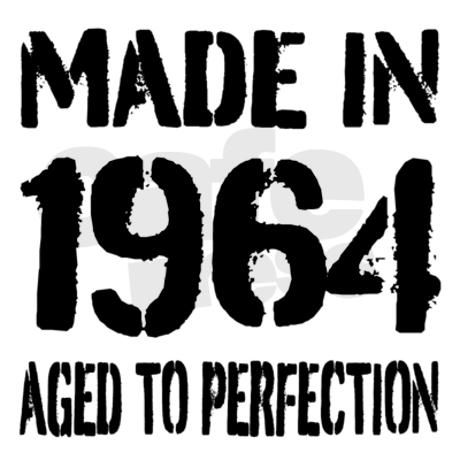 Made in 1964 Aged to perfection. Funny 50th Birthday gift idea for over the hill men in 2014. Personalizable year. Vintage look gift idea for fifty year old dad, husband, uncle, grandpa etc
