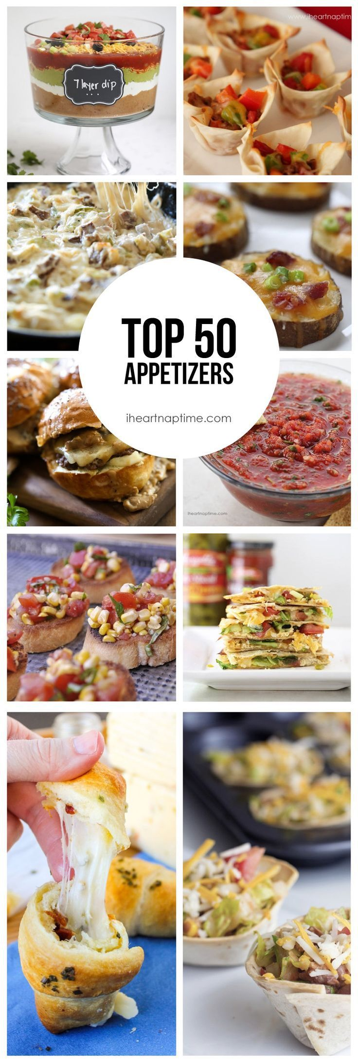 Top 50 Appetizers on iheartnaptime.com ...amazing list of recipes!