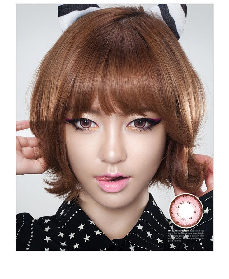 ♥K-POP STARイ・ハイ愛用カラコン♥  バビペットピンク (Baviphat Pink) 着色DIA 14.0mm  明るいピンク色とチョコレート色のサークルラインがナチュラルで、発色の良い瞳に見せる魅力的なレンズです。 いつでもどこでもバビペットピンク一つでスタイルアップ!