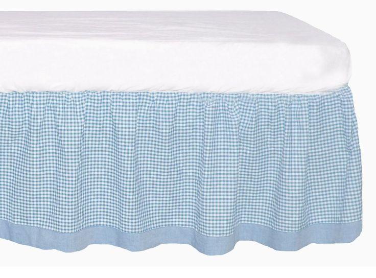 Gingham Crib Skirt 82