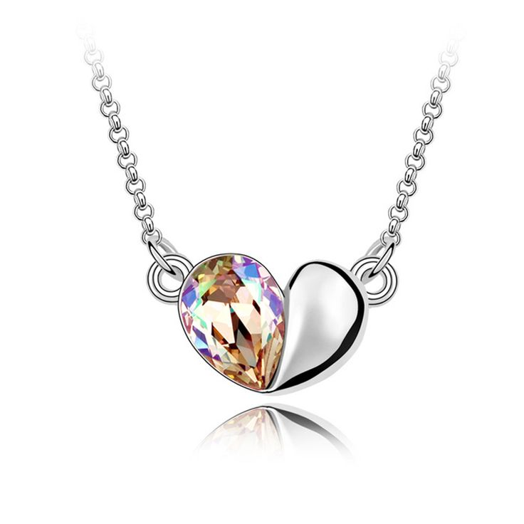 2014 Hot Sale Special Offer Freeshipping Romantic Jewelry Necklaces Pendants Necklace Austrian Crystal Necklace - Acacia Leaves $8.91