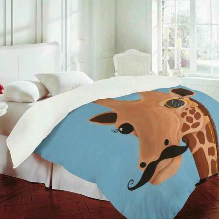 Mandy Hazell Gentleman Giraffe Duvet Cover