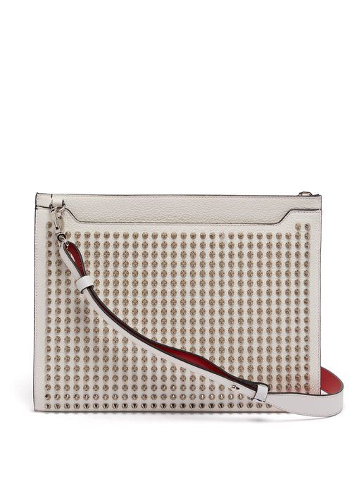 1add48f114dd CHRISTIAN LOUBOUTIN Skypouch spike-embellished leather clutch bag.   christianlouboutin  bags