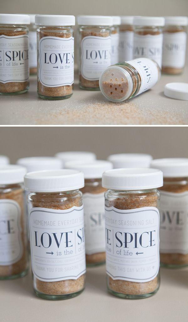 cheap spice favors #cheapfavors #weddingfavors #spicefavors