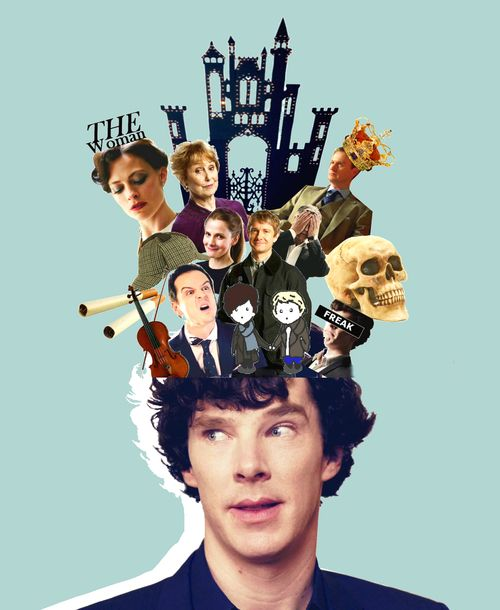 Sherlock's 'mind palace'- it pretty much sums up everything in one image. Mind places are awesome!!!