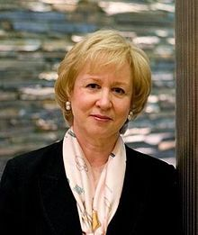 Kim Campbell, first female Prime Minister.