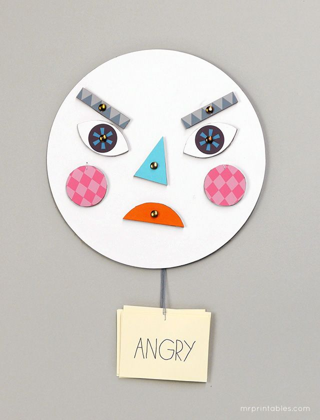 Make a face! DIY #toy with changing faces - Learning about #emotions