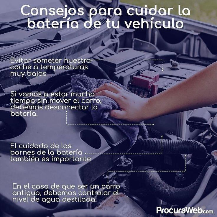 Sabemos muy bien que el cuidado y el bienestar de tu carro es muy importante para ti por ello hoy compartimos algunos consejos que te ayudaran a mantener la batería de tu vehículo en buenas condiciones.   #Procuraweb #Carros #Autos #Consejos #Tips #Cuidados #Venezuela #Repuestos