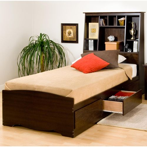Manhattan Storage Platform Bed W Tall 55 75 Available In Twin And Twin Xl Bookcase Bed Bed