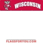 Wisconsin Badgers Banner 8' x 2'
